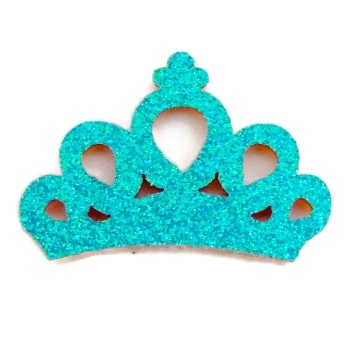 Mini Glitter Crown - Mermaid Blue
