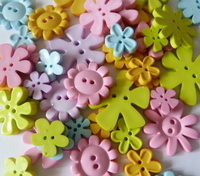 Flower Shape Buttons