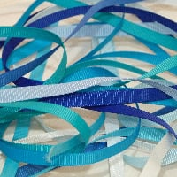 6mm Plain Grosgrain Ribbon - Blues