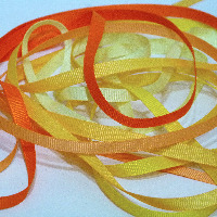 6mm Plain Grosgrain Ribbon - Oranges