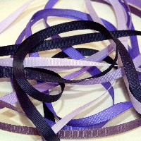 6mm Plain Grosgrain Ribbon - Purples