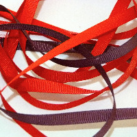 6mm Plain Grosgrain Ribbon - Reds