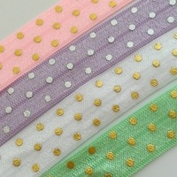 Fold Over Elastic - Polka Dot