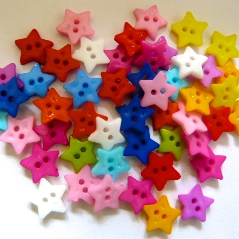12mm Star Buttons x 80
