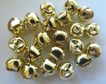 Pack of 10 - 10mm Bell - Gold
