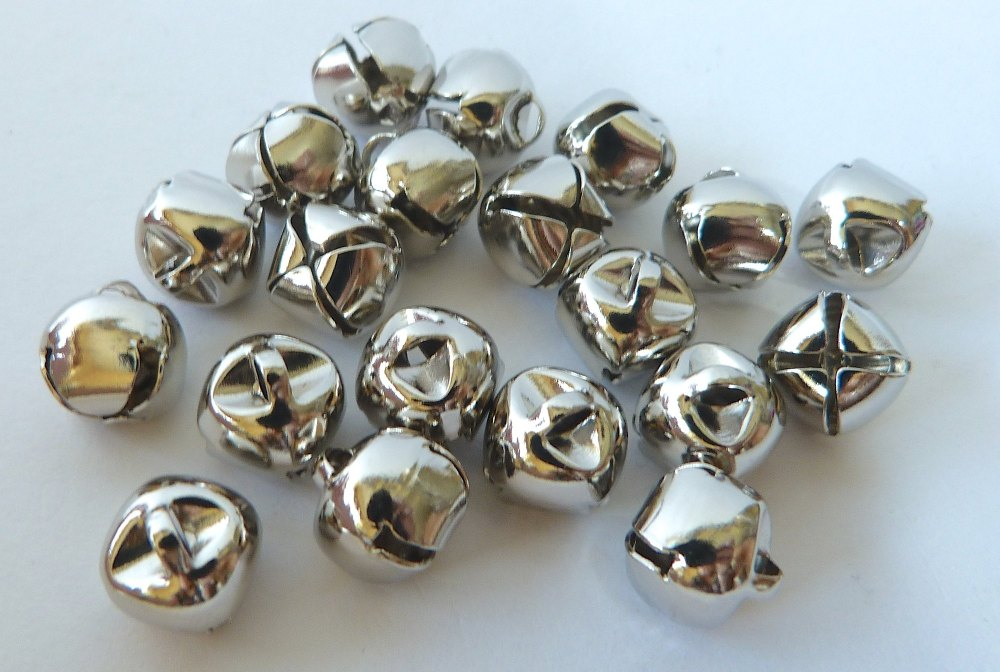 10mm Bells - Silver x 10
