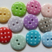 15mm Polka Dot Buttons