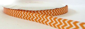 9mm Chevron Grosgrain Ribbon - Orange