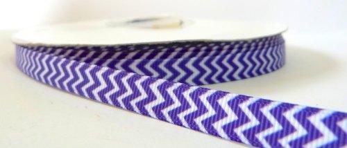 9mm Chevron Grosgrain Ribbon - Purple