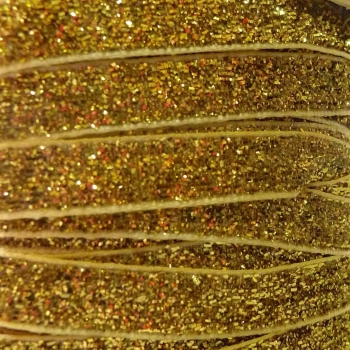 9mm Glitter Velvet Ribbon - Gold