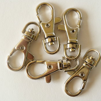 Pack of 5 - 40mm Swivel Clips - Nickel