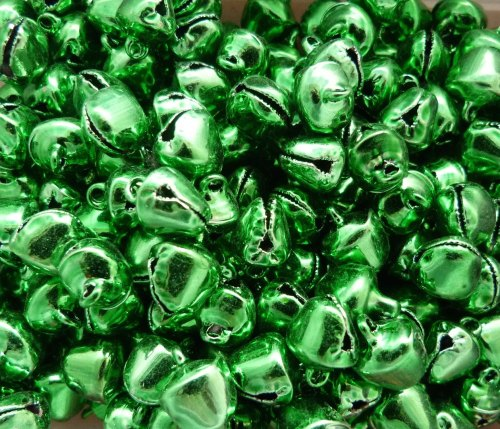 10 x 10mm Bells - Green