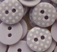 Pack of 10 - 12mm Polka Dot Buttons - Lilac