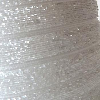 9mm Glitter Velvet Ribbon - White