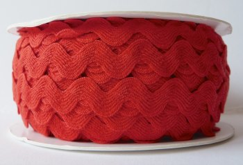16mm Ric Rac - Red