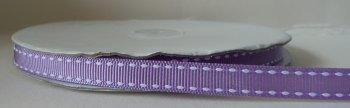 SALE 10mm Saddle Stitch Ribbon - Lilac