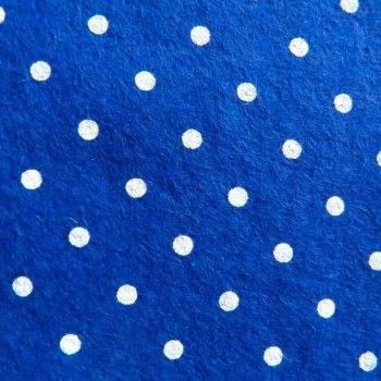 Large Polka Dot Wool Blend Felt Mini Roll - Navy Blue