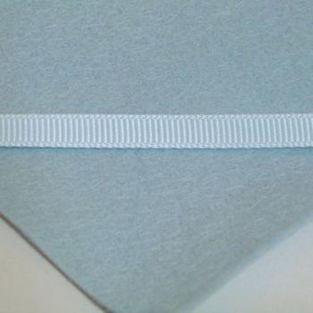 6mm Plain Grosgrain Ribbon - Duck Egg Blue