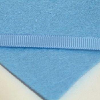 6mm Plain Grosgrain Ribbon - Light Blue