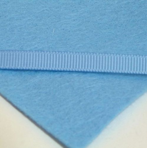 6mm Plain Grosgrain Ribbon - Light Blue