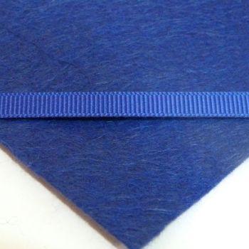 6mm Plain Grosgrain Ribbon - Navy Blue