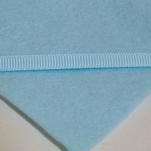 6mm Plain Grosgrain Ribbon - Pastel Blue