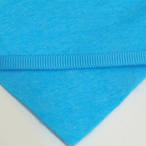 6mm Plain Grosgrain Ribbon - Turquoise