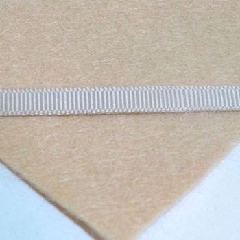 6mm Plain Grosgrain Ribbon - Biscuit