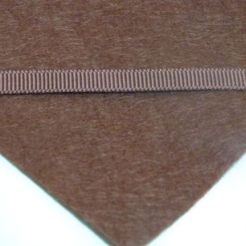 6mm Plain Grosgrain Ribbon - Chocolate