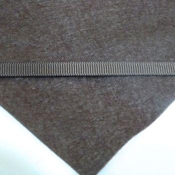 6mm Plain Grosgrain Ribbon - Cocoa