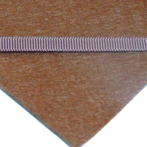 6mm Plain Grosgrain Ribbon - Gingerbread