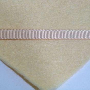 6mm Plain Grosgrain Ribbon - Vanilla