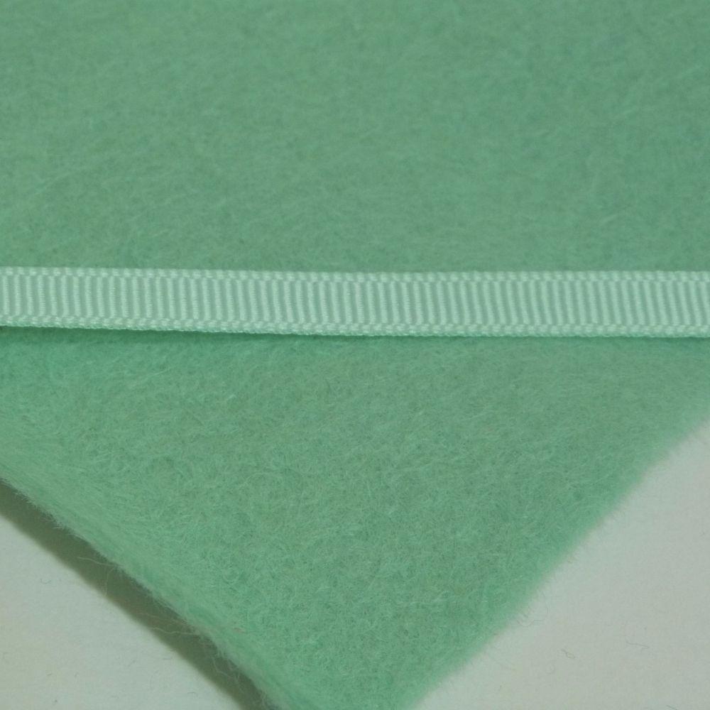 6mm Plain Grosgrain Ribbon -  Mint