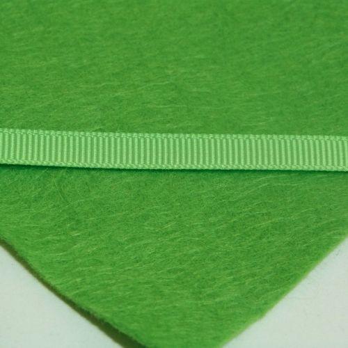 6mm Plain Grosgrain Ribbon - Apple