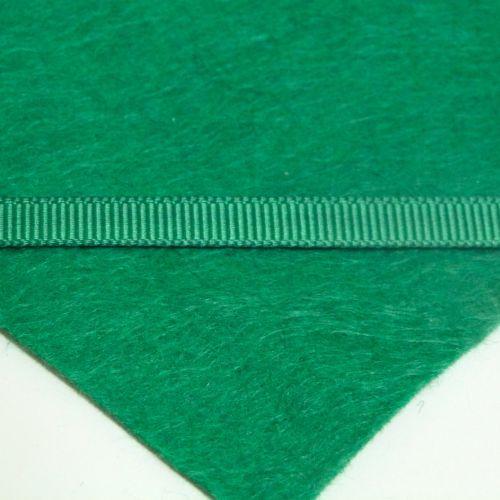 6mm Plain Grosgrain Ribbon - Dark Green
