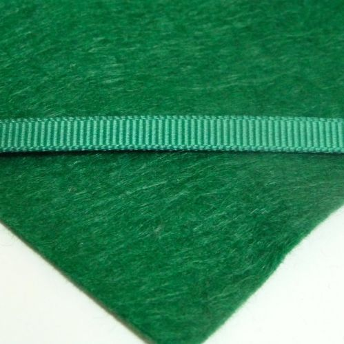 6mm Plain Grosgrain Ribbon - Forest