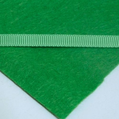 6mm Plain Grosgrain Ribbon - Green