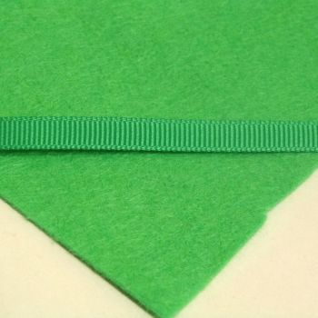 6mm Plain Grosgrain Ribbon - Lime Green