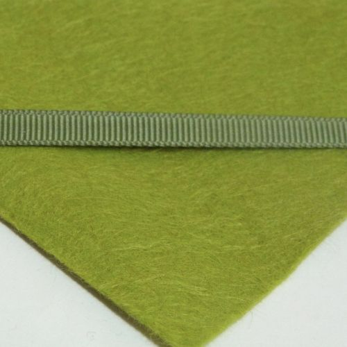 6mm Plain Grosgrain Ribbon - Olive