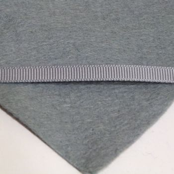 6mm Plain Grosgrain Ribbon - Ash