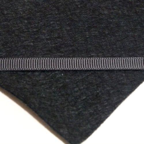 6mm Plain Grosgrain Ribbon - Black