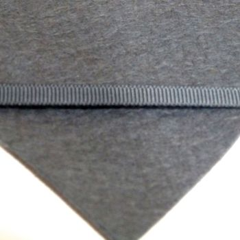 6mm Plain Grosgrain Ribbon - Charcoal