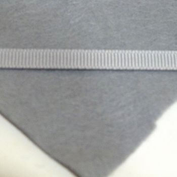 6mm Plain Grosgrain Ribbon - Grey