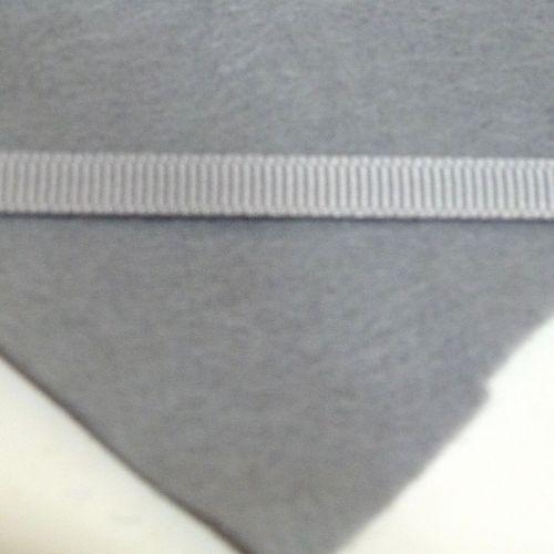 6mm Plain Grosgrain Ribbon - Grey