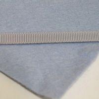 6mm Plain Grosgrain Ribbon - Light Grey