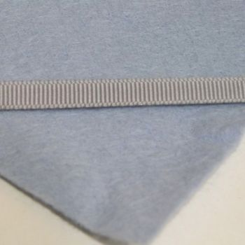 6mm Plain Grosgrain Ribbon - Light Grey