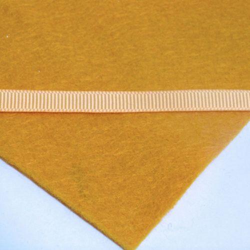 6mm Plain Grosgrain Ribbon - Mustard