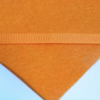 6mm Plain Grosgrain Ribbon - Orange