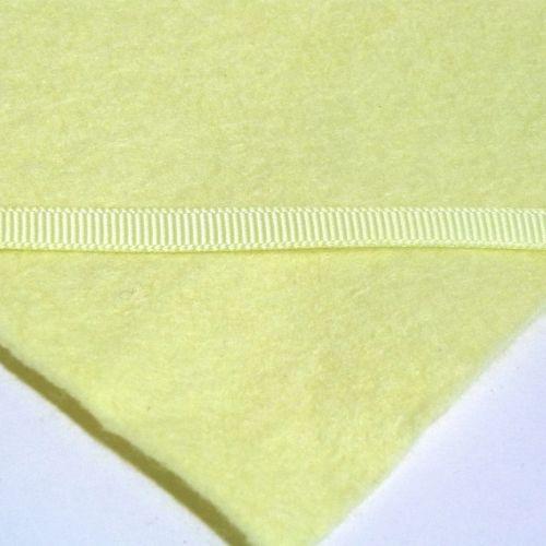 6mm Plain Grosgrain Ribbon - Pastel Yellow