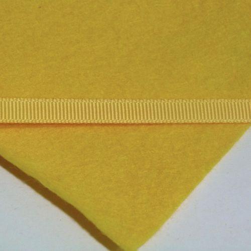 6mm Plain Grosgrain Ribbon - Sunflower
